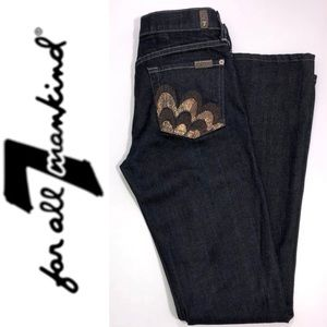 7 For All Mankind Bootcut Gold Pocket Jeans